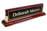 Nameplates are engraved with your own name and title.