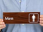 Engraved Bathroom Signs
