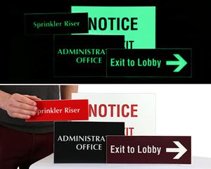 Custom photoluminescent signs