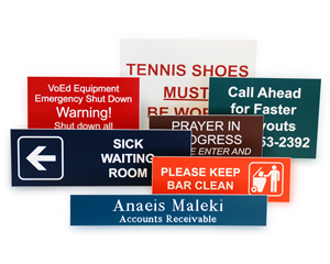 Quotation for Engraved Signs