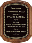 Custom Black Walnut Wooden Award Plaque