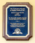 Custom Sapphire Marble Walnut Wooden Award Plaque