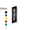 Custom 2-Sided L-Shaped Engraved Warehouse Aisle Sign