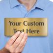Custom Text Engraved Brass Door Sign