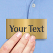 Custom Text Brass Signs Engraved