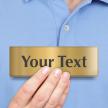 Customized Text Engraved Brass Door Sign