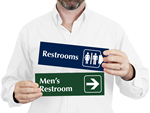 Engraved Bathroom Signs