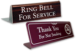 Engraved Table Top Signs