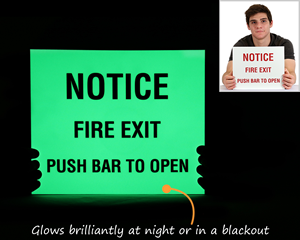 Glow in the dark sign