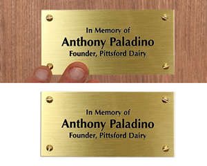 Brass Memorial Custom Text Plaques