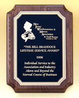 Black Brass Walnut Wooden Award Plaque