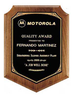 Custom Black Shield Walnut Wooden Award Plaque