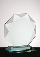 Custom Gem Cut Octagon Jade Award