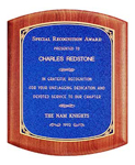 Custom Gemstone Rosewood Wooden Award Plaque