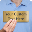 Custom Text Engraved Brass Door Sign