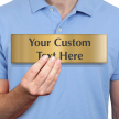 Custom Text Your Message Goes Here, Brass Sign