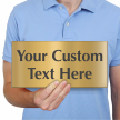 Custom Engraved Brass Sign, Text Upto 6 Lines