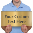 Custom Engraved Brass Sign, Text Upto 8 Lines