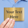 Personalized Text Door Engraved Brass Sign