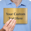 Personalized Engraved Brass Sign