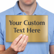 Custom Engraved Brass Sign, Text Upto 7 Lines