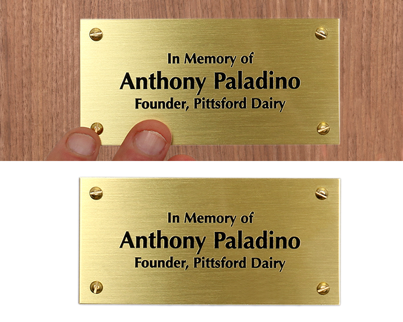 engraved memorial plaques customize in brass or plastic. Black Bedroom Furniture Sets. Home Design Ideas