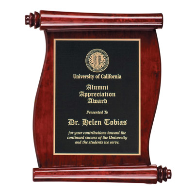 Rosewood Piano Finish Scroll Wooden Award Plaques Signs ...